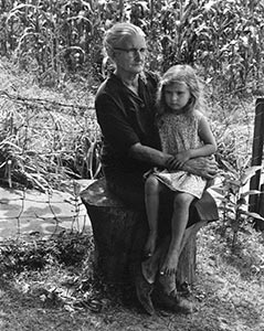 Mae Phillips and Granddaughter, 1974